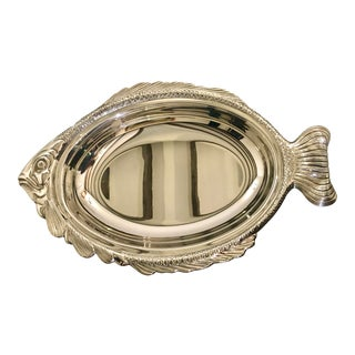 """Silver 19"""" Fish Platter For Sale"""