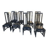 Image of Set of 8 Dining Chairs on the Style of Charles Rennie Mackintosh. For Sale