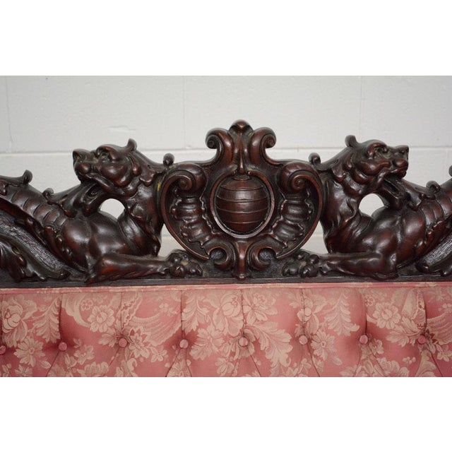 Early 20th Century Vintage S. Karpen & Bros. Renaissance Revival Mahogany Parlor Set- 3 Pieces For Sale - Image 9 of 13