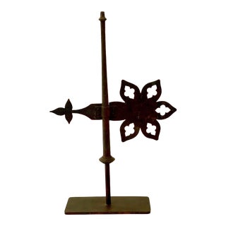 19th C. Victorian Roof Banner Weather Vane on Stand For Sale