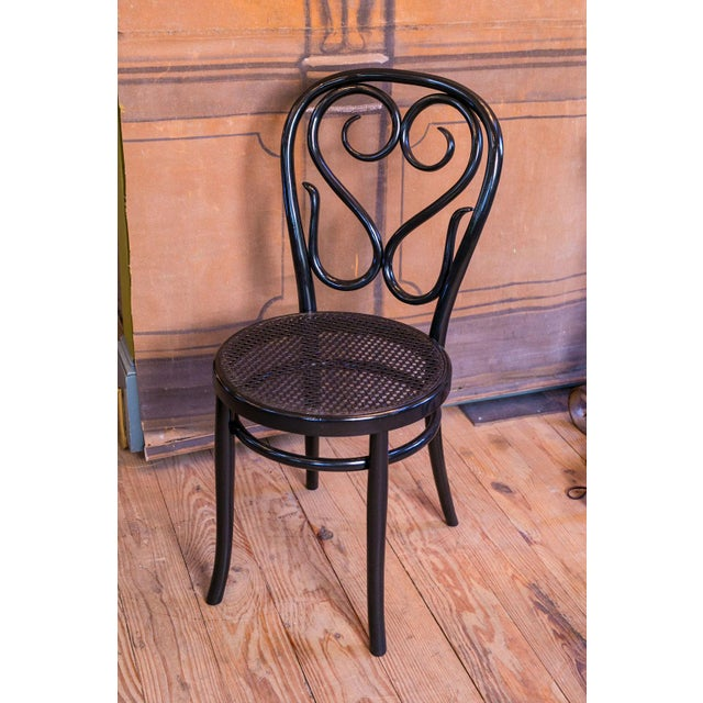 1940s Set of Five Bentwood Bistro Chair For Sale - Image 5 of 7