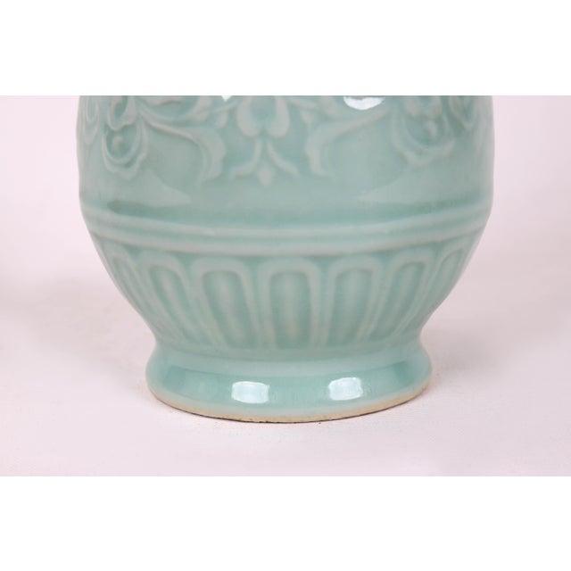 Vintage Celadon Pear Shaped Porcelain Vase For Sale In New York - Image 6 of 13