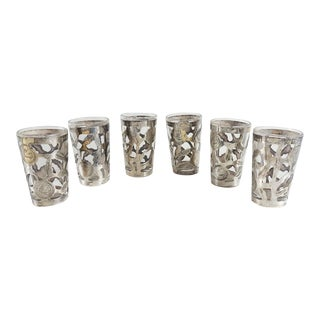 Sterling Overlay Liqueur Glasses - Set of 6 For Sale