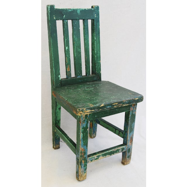 Early 1900s Primitive Country Child's Chair - Image 2 of 9