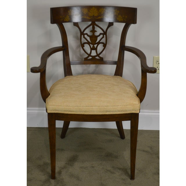 Traditional Nahon Custom Quality Set of 8 Regency Style Mahogany Dining Chairs For Sale - Image 3 of 13