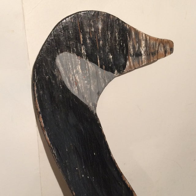 Vintage Hand Painted Wood Snow Goose Decoy Clock For Sale In Sacramento - Image 6 of 11