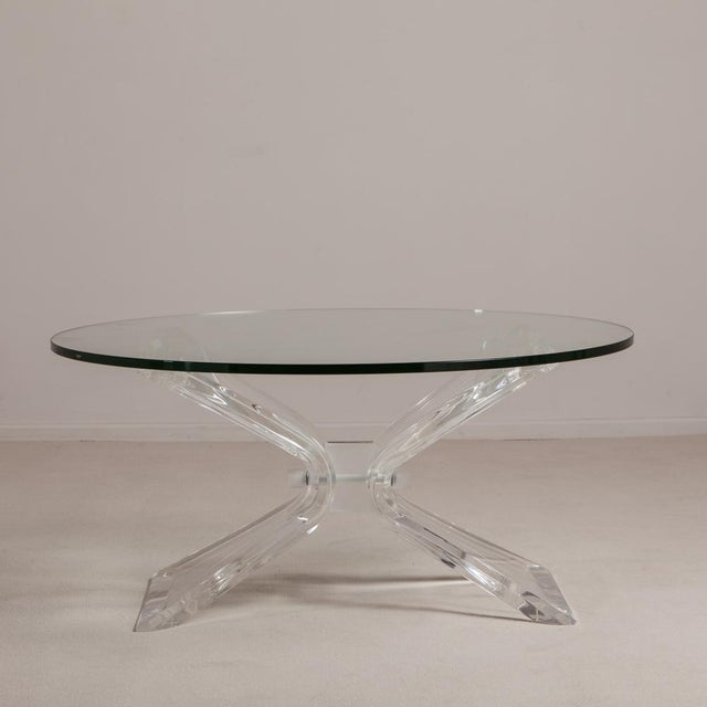 1970s Butterfly Shaped Lucite Coffee Table Usa 1970s For Sale - Image 5 of 5