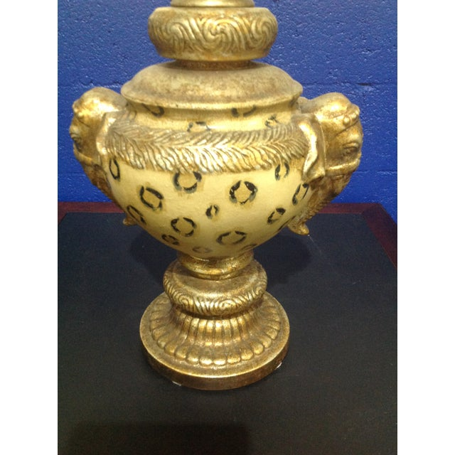 Vintage Pedestal Animal Motif Urn With Lid & Elephant Handles For Sale - Image 4 of 7
