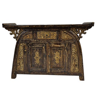 Teak Bali Art Commode With Drawers