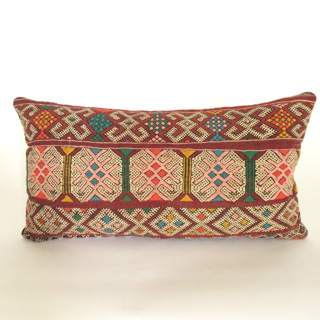Burgundy Turkish Kilim Pillow - Image 4 of 11