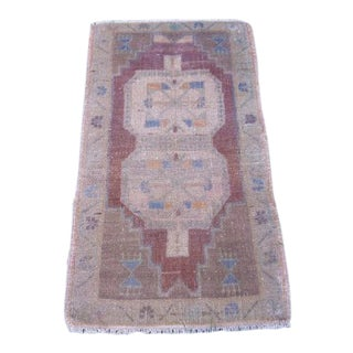 1970s Vintage Miniature Turkish Rug - 1′7″ × 3′ For Sale