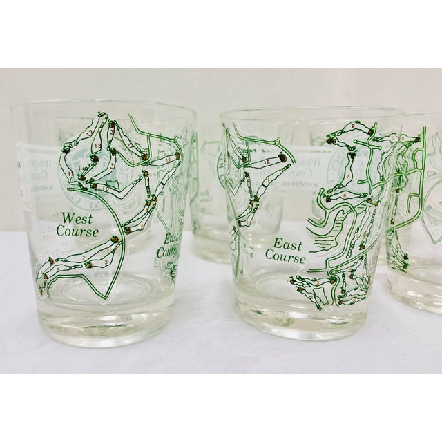 Glass Vintage Golf Course Cocktail Glasses For Sale - Image 7 of 9