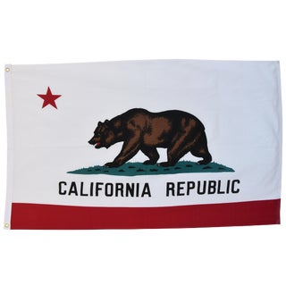 Jumbo Vintage California Republic State Bear Flag For Sale