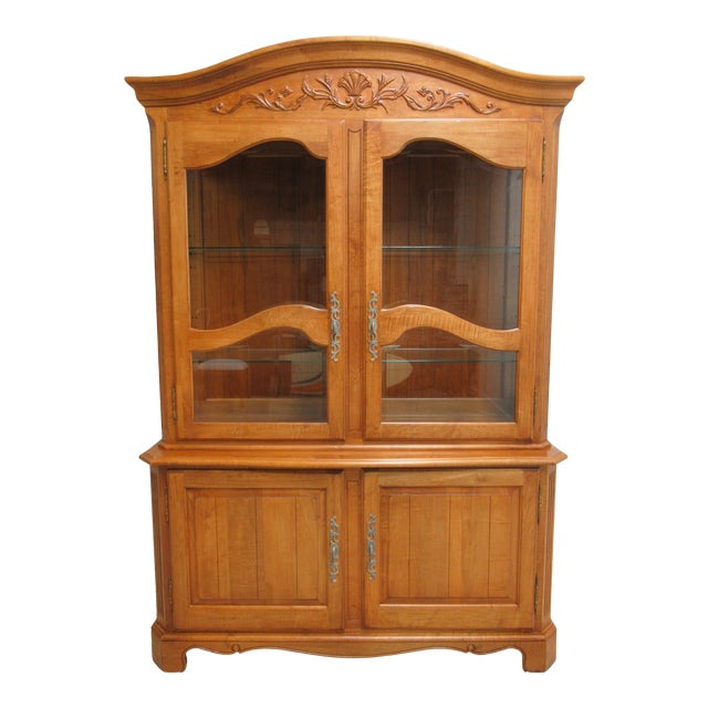 Ethan Allen Legacy French County Server China Cabinet For Sale