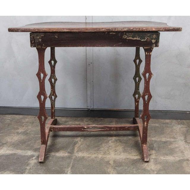 Americana Unique American Folk Art Table, circa 1890's For Sale - Image 3 of 7