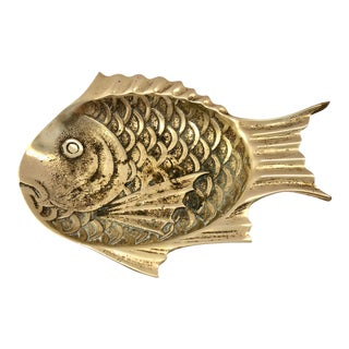 Brass Fish Ashtray or Catchall For Sale
