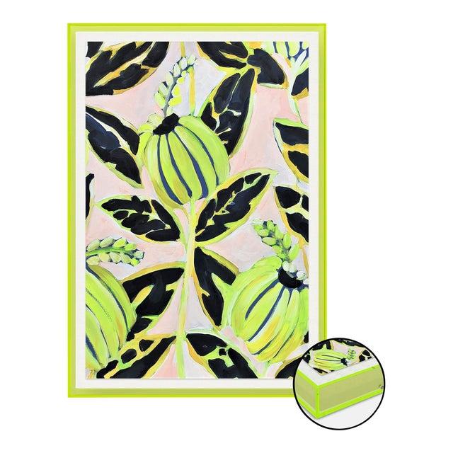 Coco Plum by Lulu DK in Neon Green Acrylic Shadowbox, Medium Art Print For Sale
