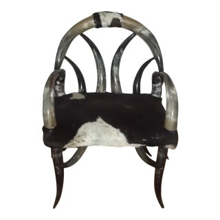 20th Century Steer Horn Chair For Sale