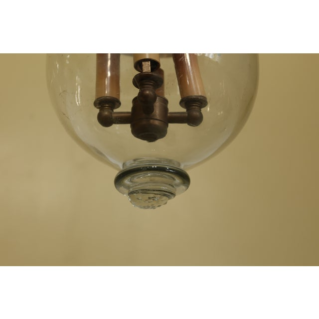 1940s Vintage De Grelle Belgium Bell Form Chandelier Light Fixture For Sale - Image 5 of 8