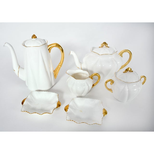 Brown Vintage English Porcelain Tea / Coffee Service Service for 12 People - 36 Pc. Set For Sale - Image 8 of 13