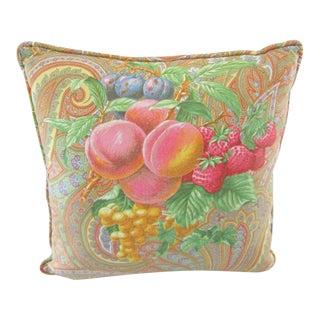 Tutti Fruitti Decorative Pillow For Sale