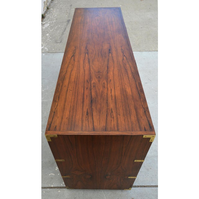 Pair of Walnut Baker Chests of Drawers For Sale - Image 10 of 13