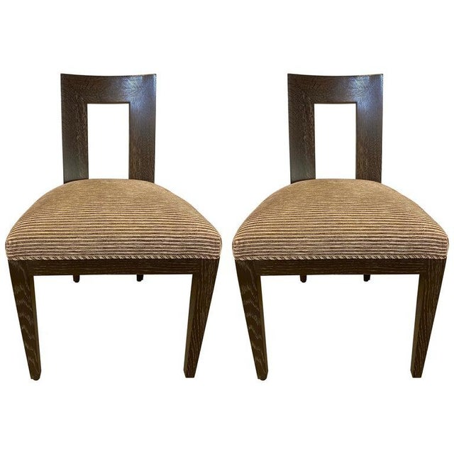 Set Ten Donghia 'Margarita' Design Dining Chairs Pickled Oak, Labeled Donghia For Sale - Image 12 of 12