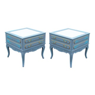 Mid Century French Style Nightstands, a Pair