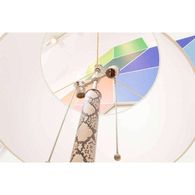 Faux Python Floor Lamp For Sale In San Francisco - Image 6 of 8