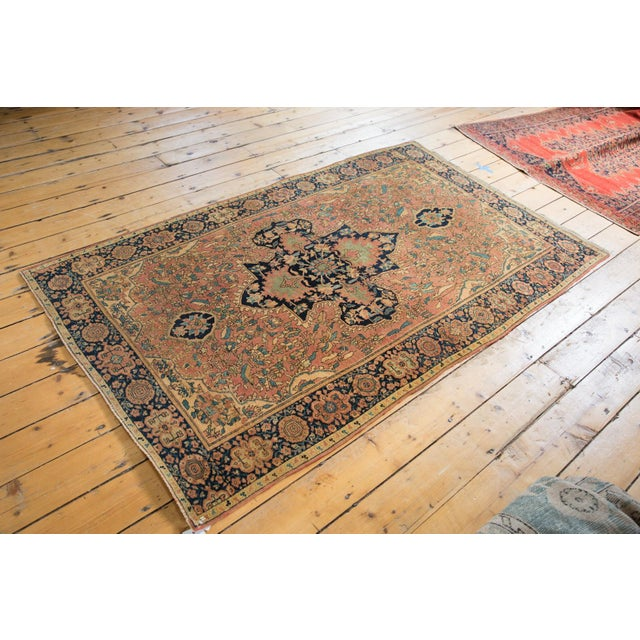 "Antique Farahan Sarouk Persian Rug - 3'10"" X 6'6"" For Sale - Image 10 of 13"
