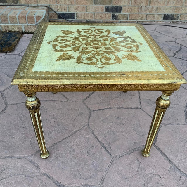 20th Century Italian Florentine Side Table For Sale In Charlotte - Image 6 of 6