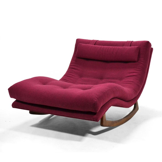 1960s Adrian Pearsall Rocking Chaise by Craft Assoc. For Sale - Image 5 of 10
