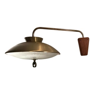 Mid Century Pull Down Hanging Wall Lamp For Sale