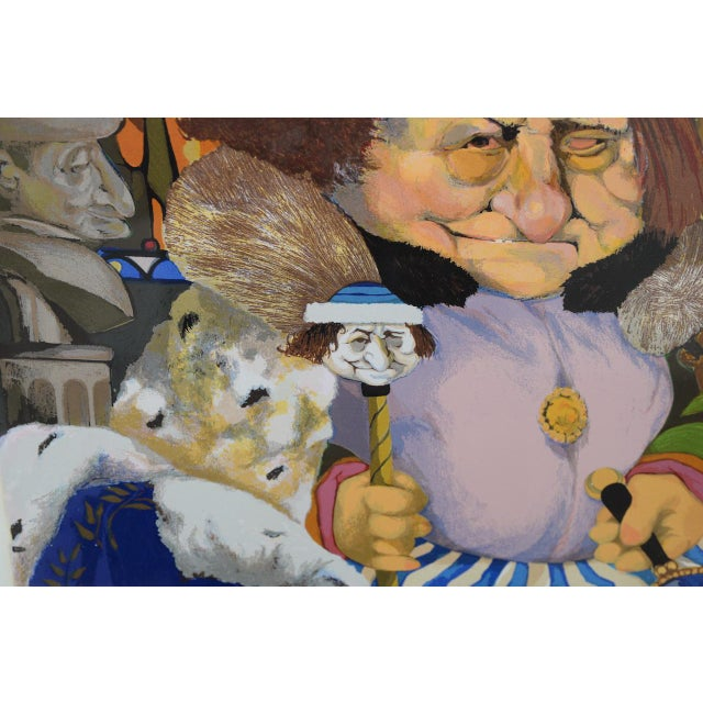 """Charles Bragg """"King of Me's"""" Limited Edition Signed Serigraph For Sale - Image 9 of 11"""