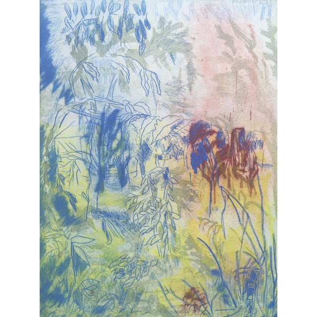 """Abstract """"Close View"""" Landscape Etching by Ray Brown For Sale - Image 3 of 6"""