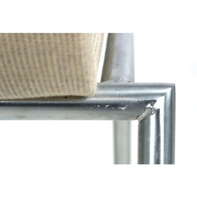 Danish Modern Brushed Steel Side Chair by Kvist - Image 11 of 11
