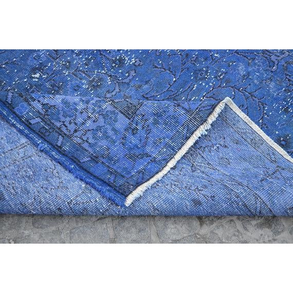 """Blue Overdyed Rug -- 5'10"""" x 9'4"""" For Sale In Austin - Image 6 of 6"""