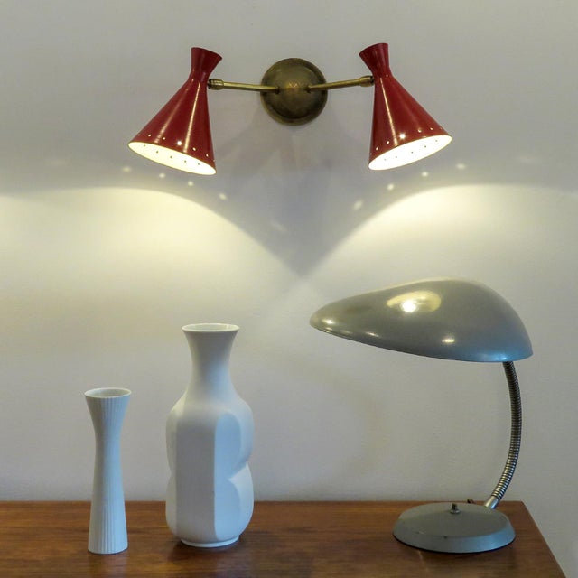 Red Italian Double Wall Light - Image 10 of 10