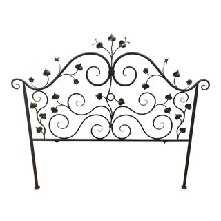 Ironware International Hand-Forged California King Headboard For Sale