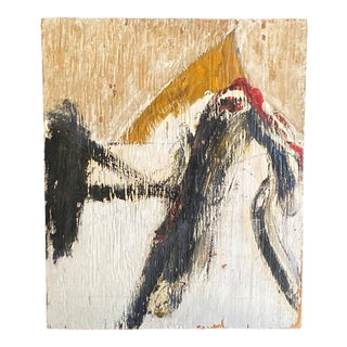 Vintage New York Abstract Expressionist Oil Painting Ken Kaminski For Sale