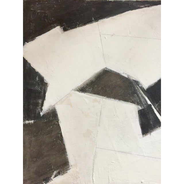Black, White and Beige Abstract Painting For Sale In Miami - Image 6 of 8