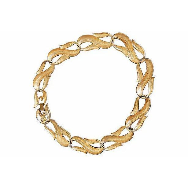 1980s Givenchy Textured & Smooth Link Necklace For Sale - Image 5 of 8