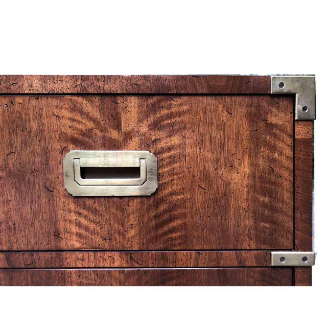 1970s Campaign 7 Drawer Credenza or Dresser by Henredon For Sale - Image 9 of 13