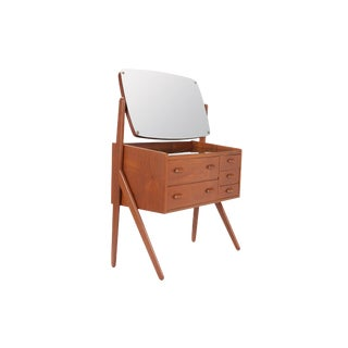 1960's Vintage Danish Teak Dressing Vanity Table