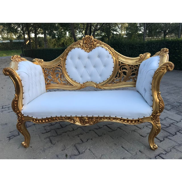 French Louis XVI Style Settee For Sale - Image 11 of 12