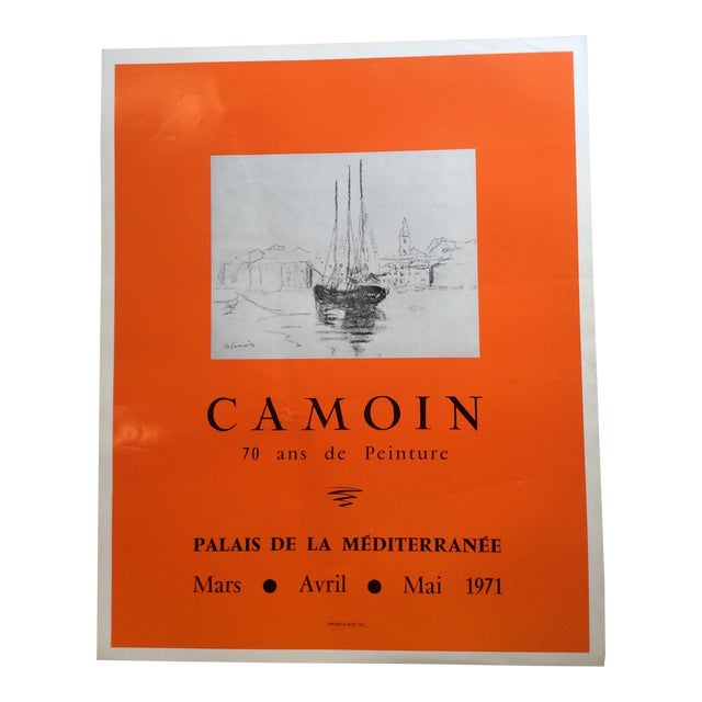 1970s Vintage Charles Camoin Art Exhibiton Poster For Sale