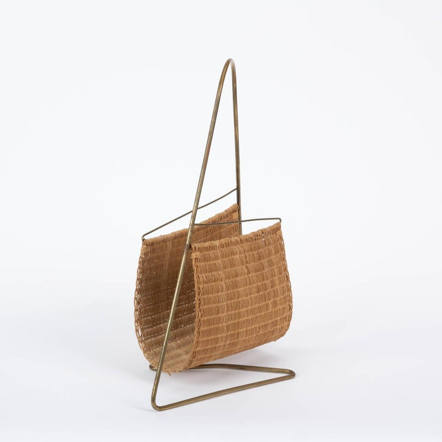 Brass Carl Auböck Attributed Magazine Rack For Sale - Image 8 of 12