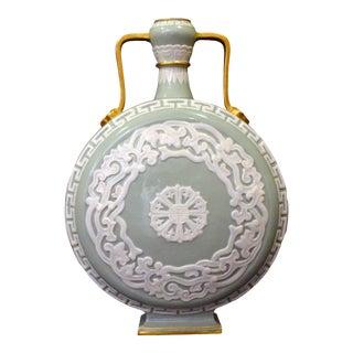 Antique Royal Worcester Porcelain Moon Flask For Sale