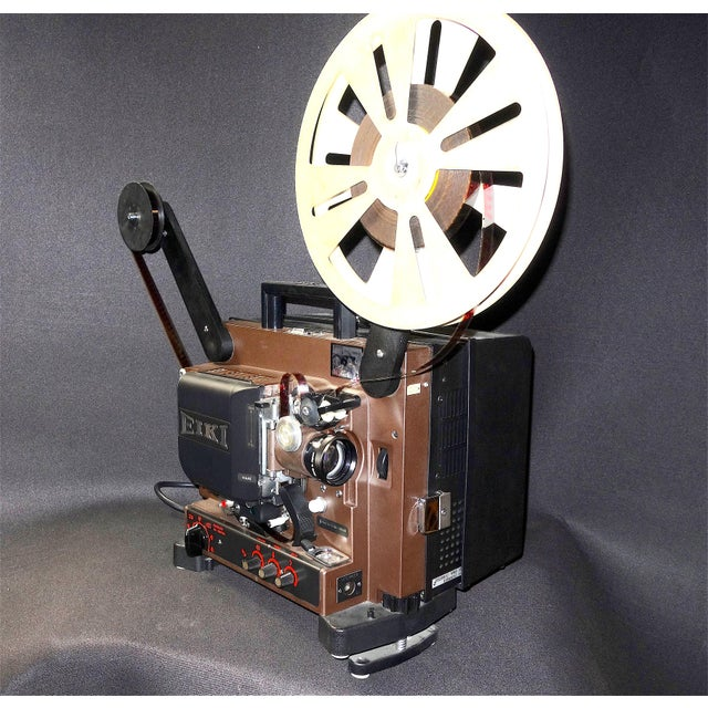 Metal Circa Mid 20th Century 16mm Sound on Film Movie Projector for Decorative Display For Sale - Image 7 of 13
