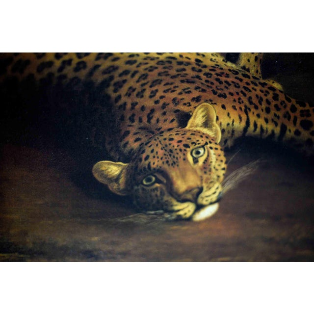 Two Leopards Lying in the Exeter Exchange by Jacques-Laurent Agasse Reproduction 47h X 37winches For Sale In Chicago - Image 6 of 13